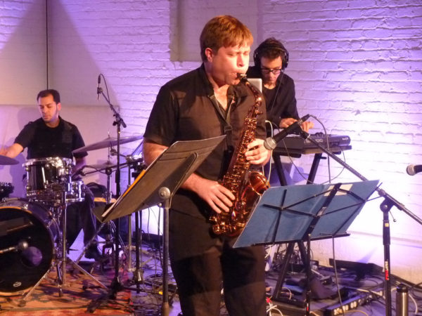 travis sullivan playing the saxophone